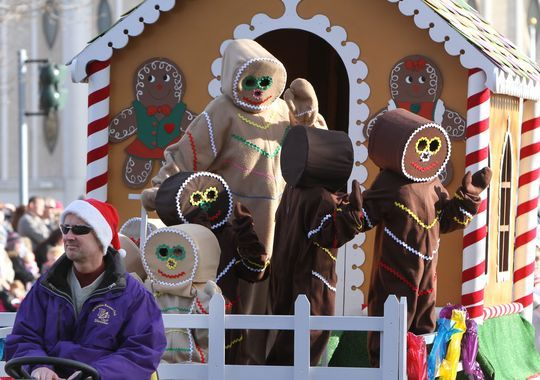 Gingerbread people greet visitors at the 2011 Downtown Elmira Holiday Parade. This year's parade is set for Nov. 28. (Photo: File photo )