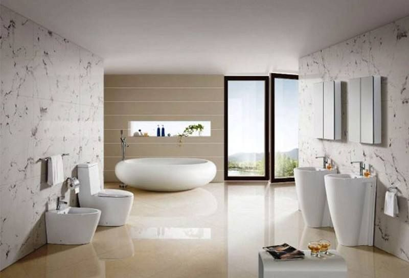 Glorious Bathroom Interior Design with Hand Wash Tab #HandWashTab  #BathroomInterior