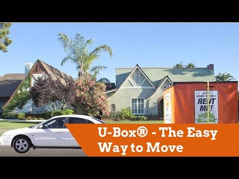U Haul U Box Moving and Storage containers in San Antonio TX at U