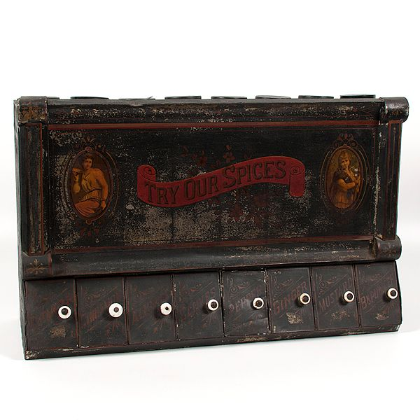 Country Store Spice Tin (4/16/2016 - Cleveland Spring Live Salesroom Auction)
