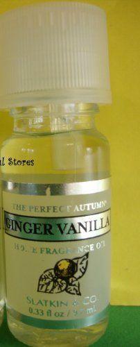 Bath & Body Works Slatkin Ginger Vanilla Home Fragrance Oil