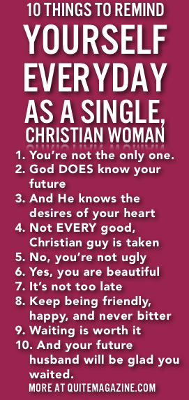 inavale single christian girls Much like me, being a single woman in the church can be awkward i've been a christian for my entire adult life and single for the past five years and.