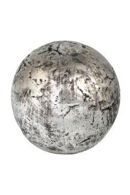 Black And White Decorative Ceramic Balls Distressed Silver Glazed Ceramic Decorative Sphere  Stuff