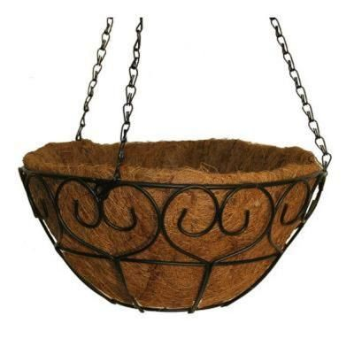 Vigoro 16 In Metal Scroll Heart Coco Basket Hbhs16vg Hanging Baskets Metal Heart Basket Planters