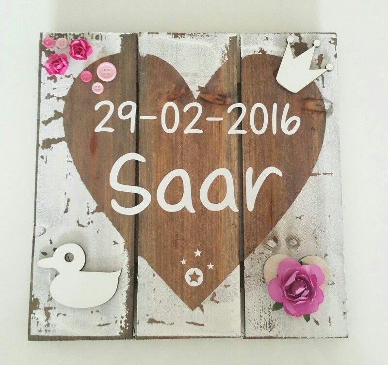 Wandbordje ● Troetel.com #wandbord #geboortebord #babykamer #kraamcadeau