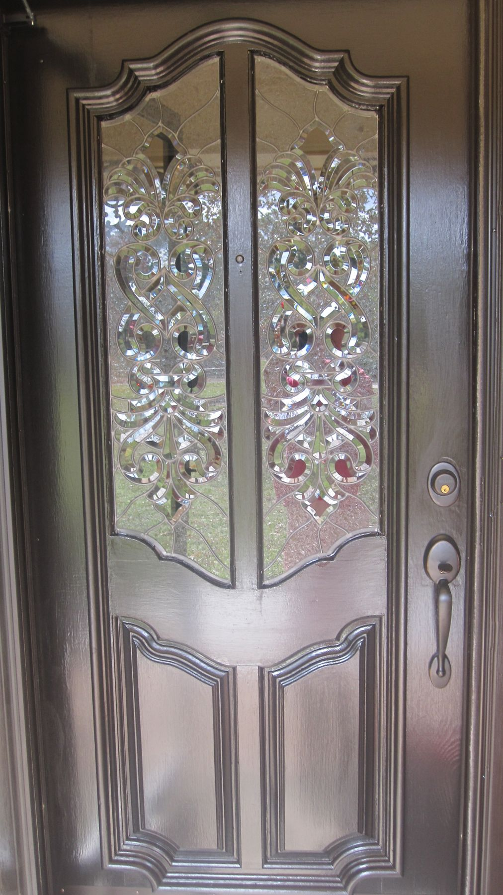 Clear Textured And Beveled Glass Door Panels House And Home