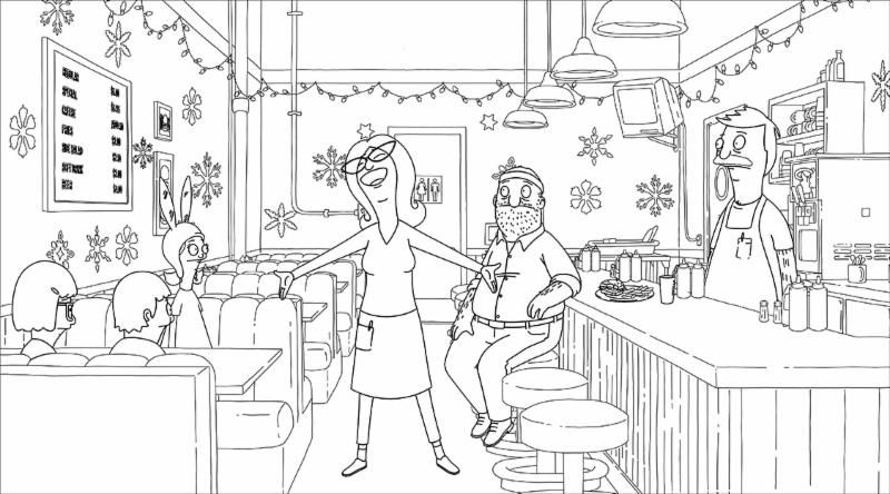 bobs burger coloring pages - photo#24