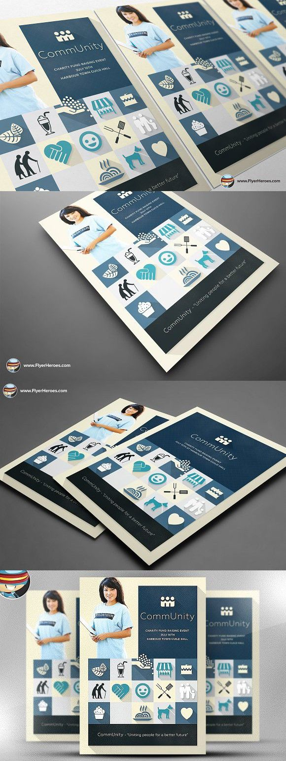 community flyer template flyer template and template