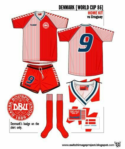 51705cb94 Denmark home kit for the 1986 World Cup Finals.