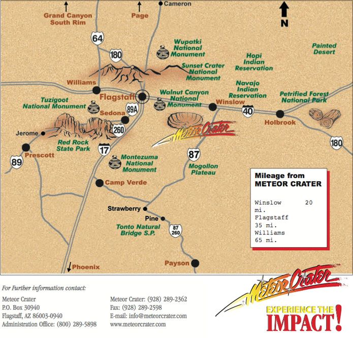Meteor Crater Arizona Map.Meteor Crater Arizona Map Meteor Crater Arizona Places To See