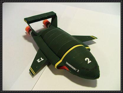 Thunderbird 2 Transporter Aircraft Paper Model Free Download Paper Models Free Paper Models Card Model