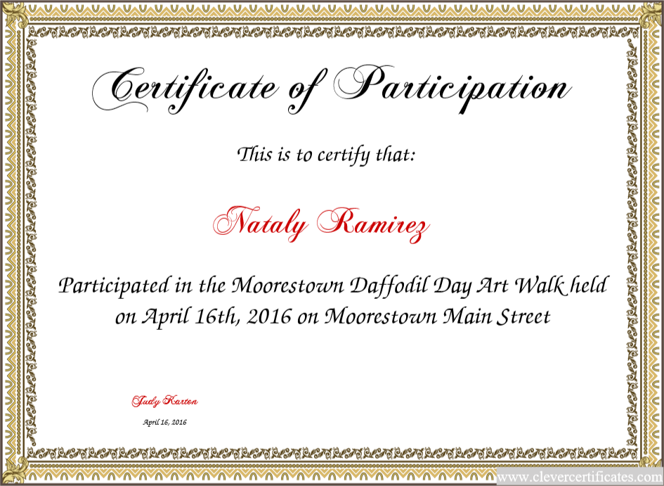 Certificate Of Participation Great Motivational Tool For Kids