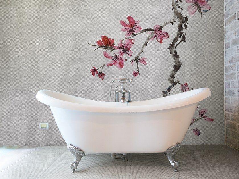 Washable Panoramic Glass Fibre Wallpaper Bathroom Wallpaper Wallpaper Concrete Prices