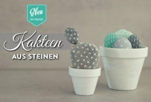 DIY: süße Kakteen aus Steinen sind die ideale Deko für Gießmuffel ;-) Die Anleitung mit Materialliste findet Ihr hier: https://www.deko-kitchen.de/diy-suesse-kakteen-aus-steinen/