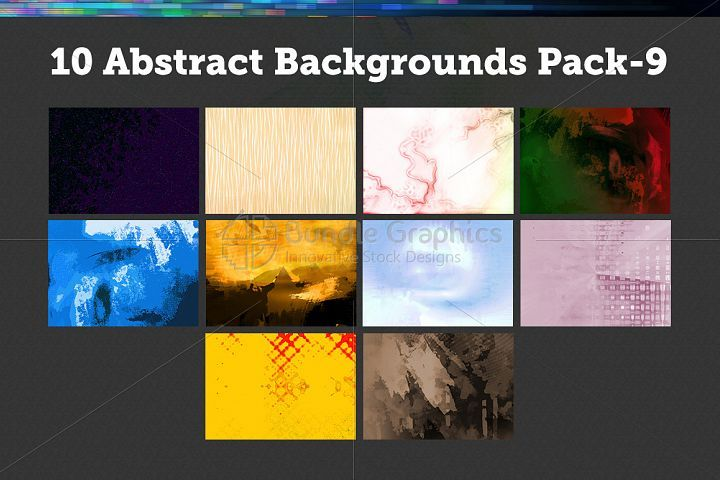 10 Abstract Backgrounds – Pack-9 from DesignBundles.net