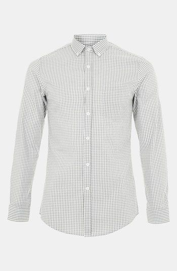 Topman Gingham Check Shirt available at #Nordstrom