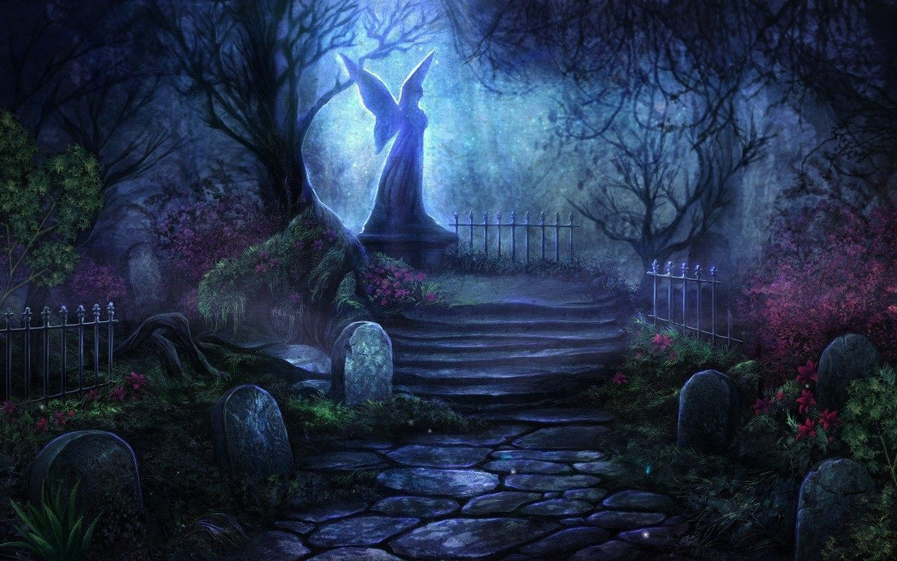 Graveyard Fantasy Desktop Wallpaper Background HD