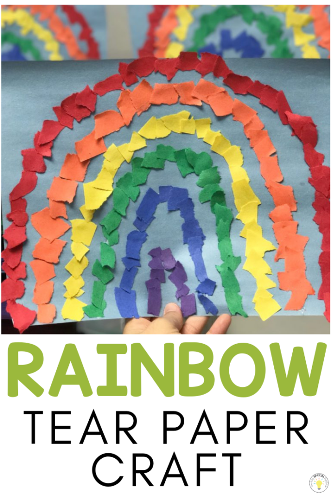 Rainbow Tear Paper Craft Teaching Special Thinkers Crafts For