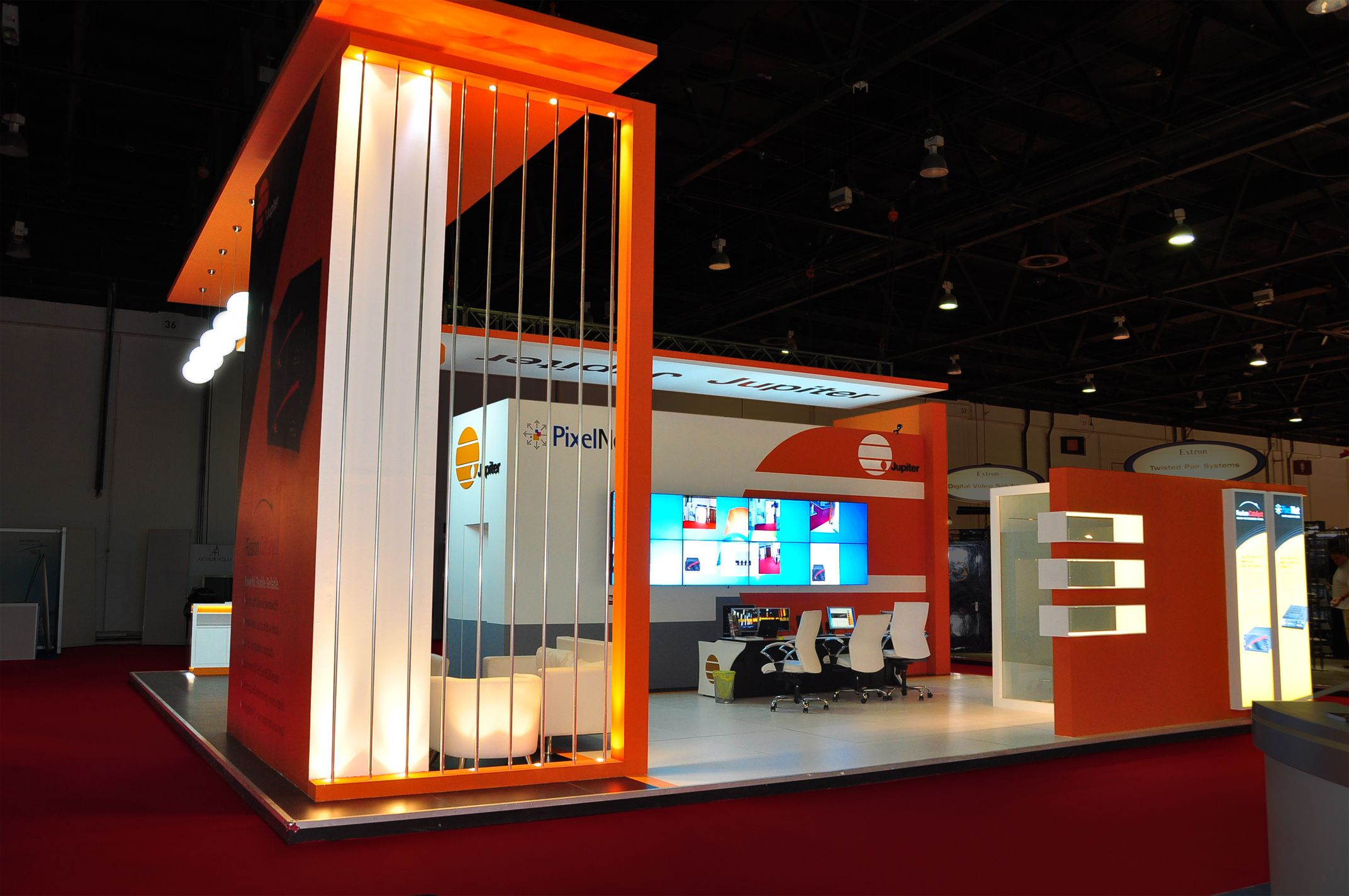 Exhibition Booth Wall : Jupiter systems mg design trade show exhibits