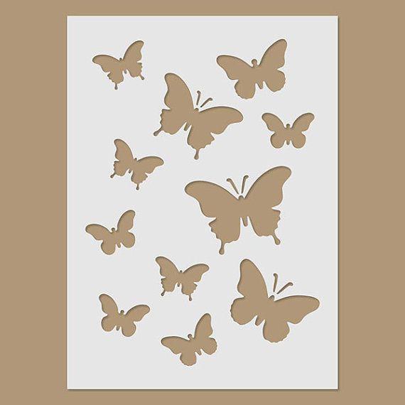 Butterflies Stencil Mariposas Plantilla De Mariposa Mariposas Y