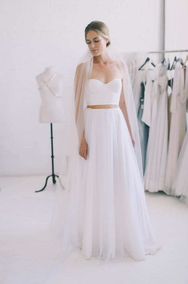Check Out This Epic Selection of 2 Piece Wedding Dresses NOW ...