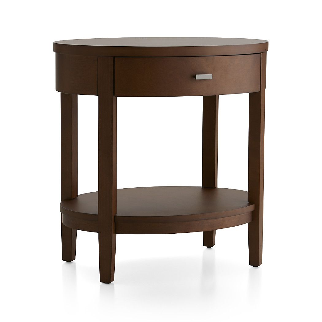 Arch Tea Oval Nightstand With Drawer Reviews Crate And Barrel