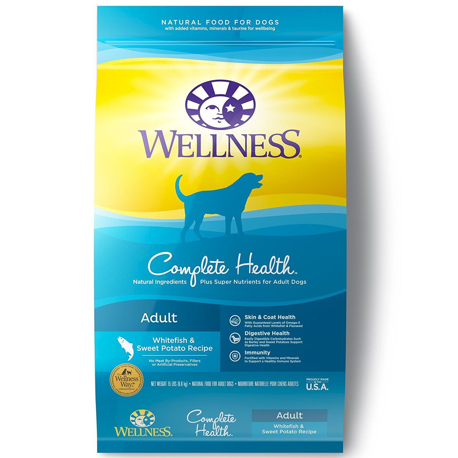 Wellness Complete Health Natural Dry Dog Food Whitefish And Sweet