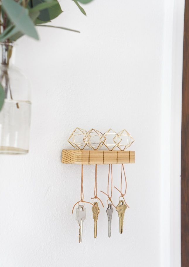 What To Make This Weekend Brass Headboard Graphic Laundry Baskets More Key Holder Diy Modern Key Holder Diy Decor Projects