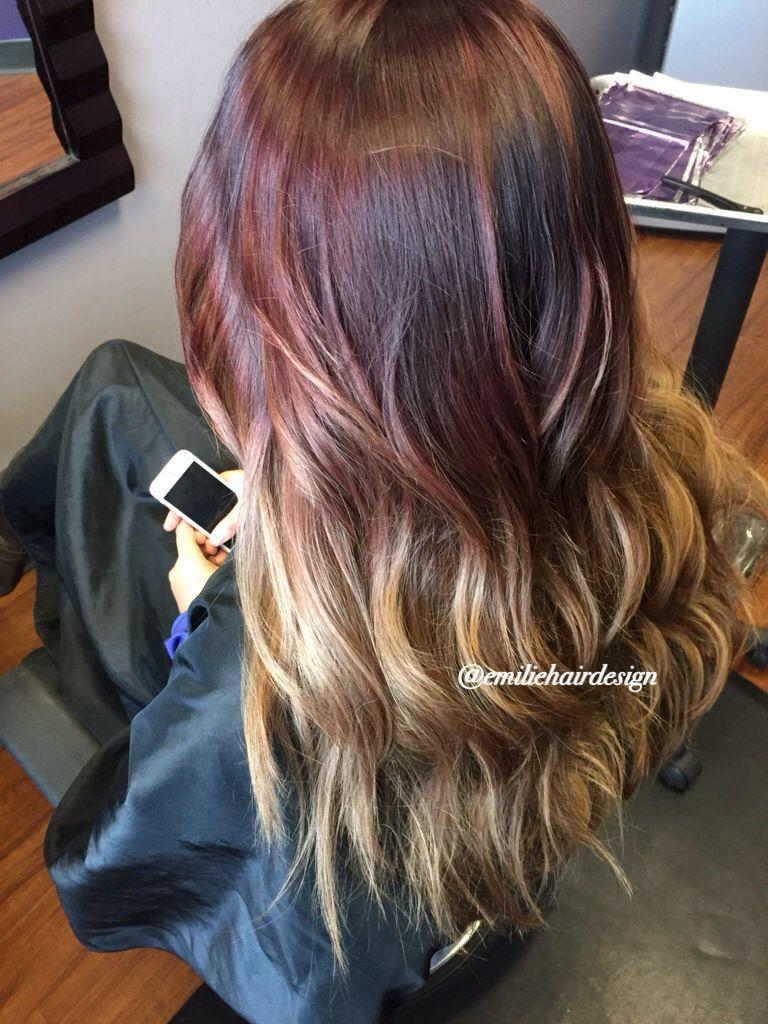 Please follow my instagram emiliehairdesign ombre auburn hair
