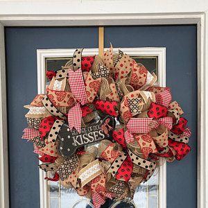 Valentines wreath,Valentine's grapevine wreath, Vintage Valentine's Day wreath, Victorian wreath, Elegant Valentine's wreath, #scarecrowwreath