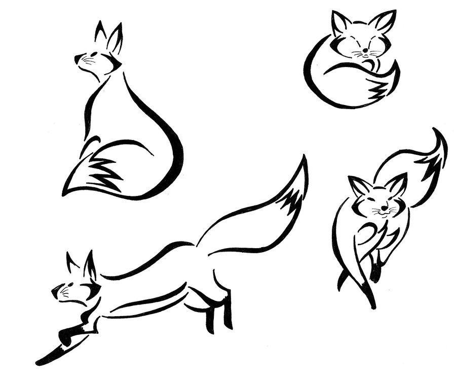 Deviantart More Like Tribal Fox Head By Bird Line Drawing Half Sleeve Tattoos Designs Tribal Fox