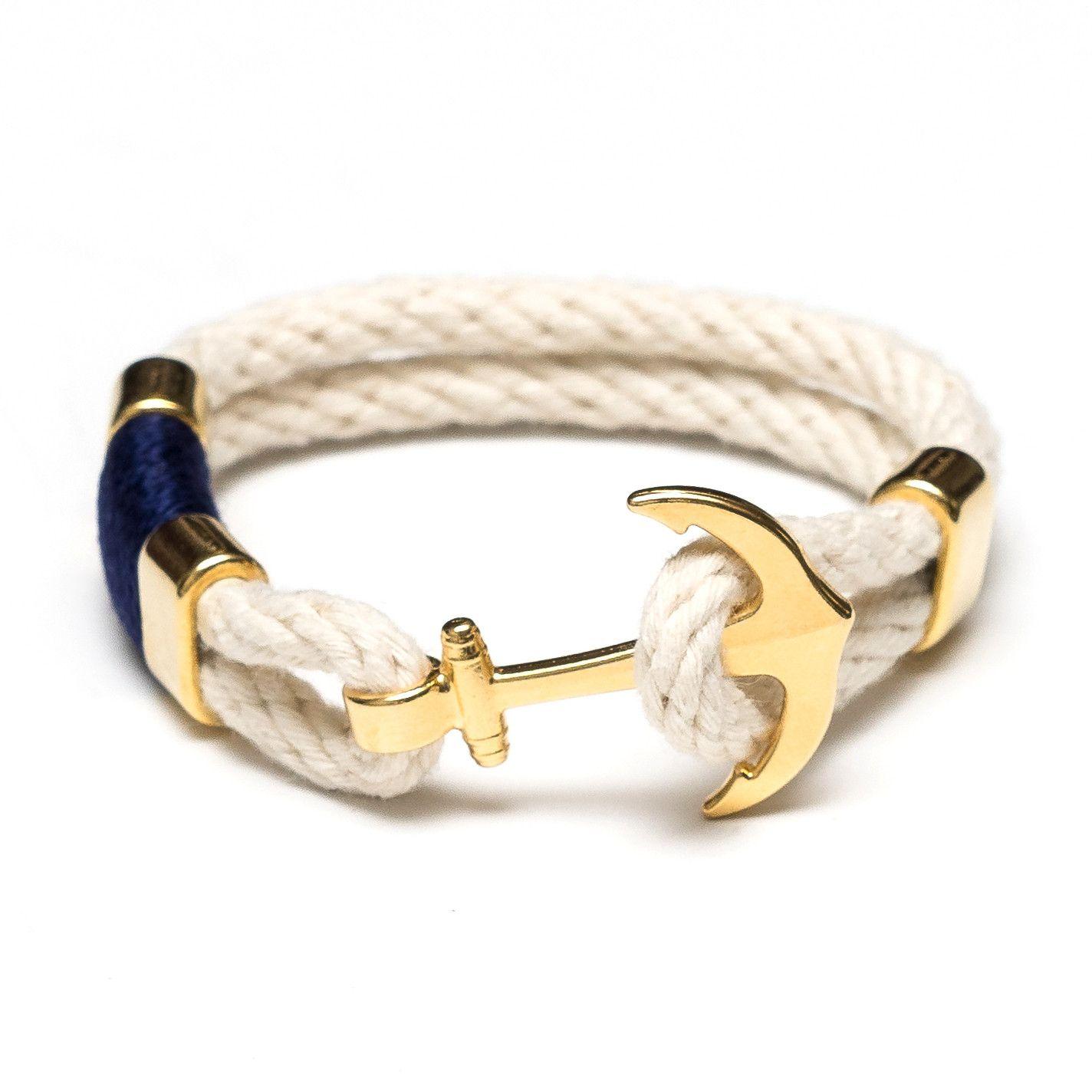 Anchor bracelet ivorygold marinerooutfits look marino