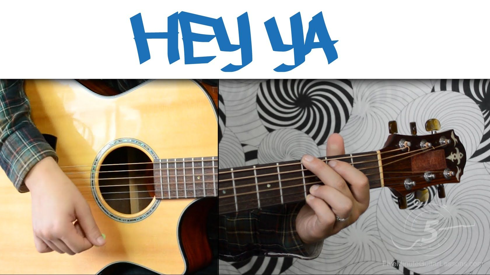 Hey Ya Outkast Easy Guitar Tutorial Simple Chords And