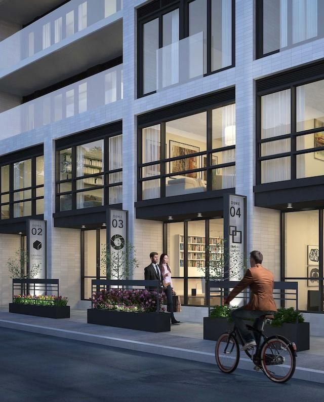 Street view of Live-Work units at DUKE Condos, image courtesy of TAS