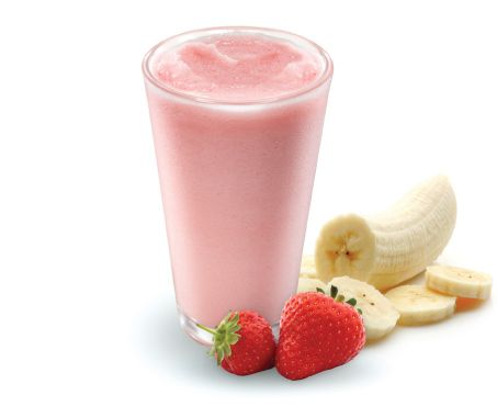 how to make strawberry banana smoothie with ice