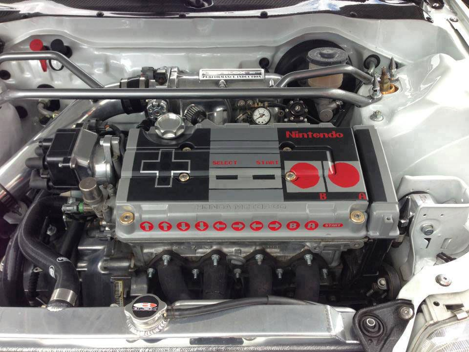 Superior I Want This: NES Controller Car Engine Inside A 1989 Honda Civic