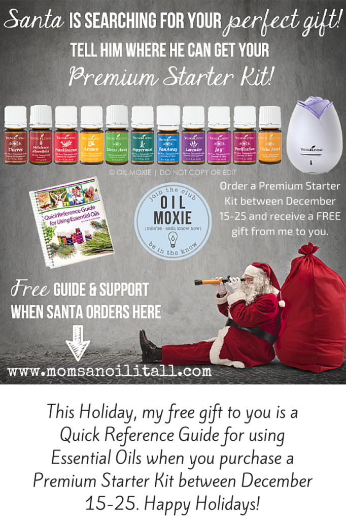 Only 2 Days Left! Purchase Your Premium Starter Kit and Receive A Free Gift! Happy Holidays! www.momsanoilitall.com