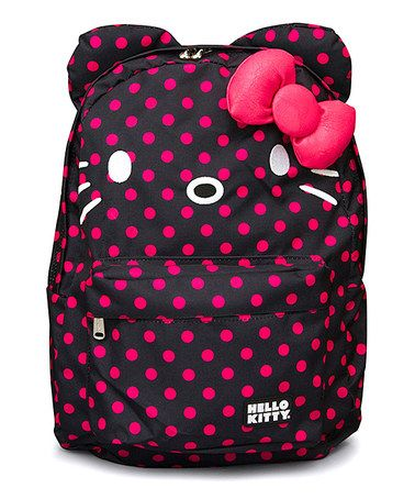 Take a look at this Pink   Black Hello Kitty Polka Dot Backpack by  Loungefly on  zulily today! 9df4912291
