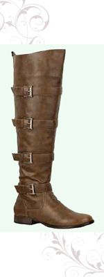 Brown Buckle Robin Tall Riding Boots - 5 to 11