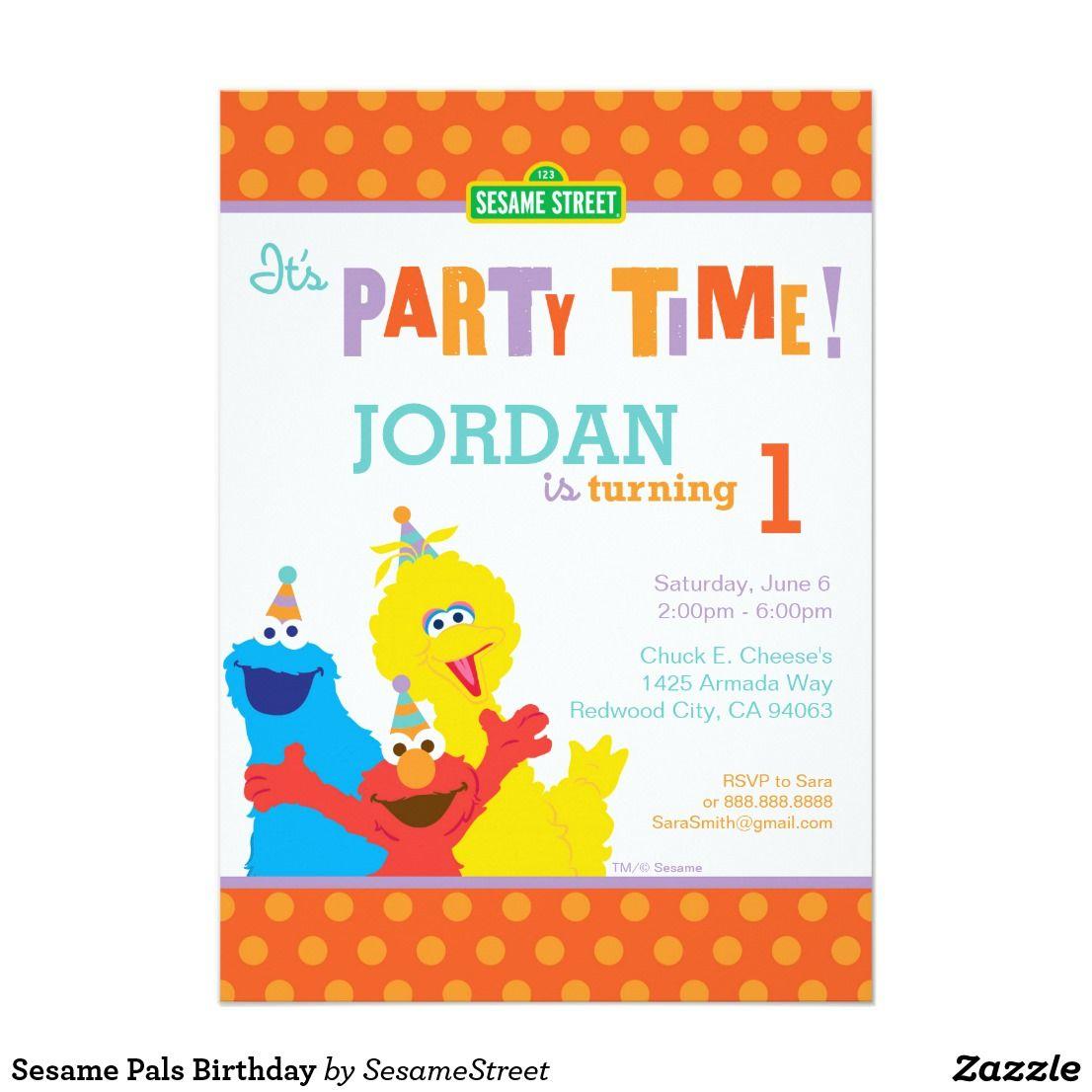 Sesame Pals Birthday Card   Birthdays, Sesame street birthday and ...