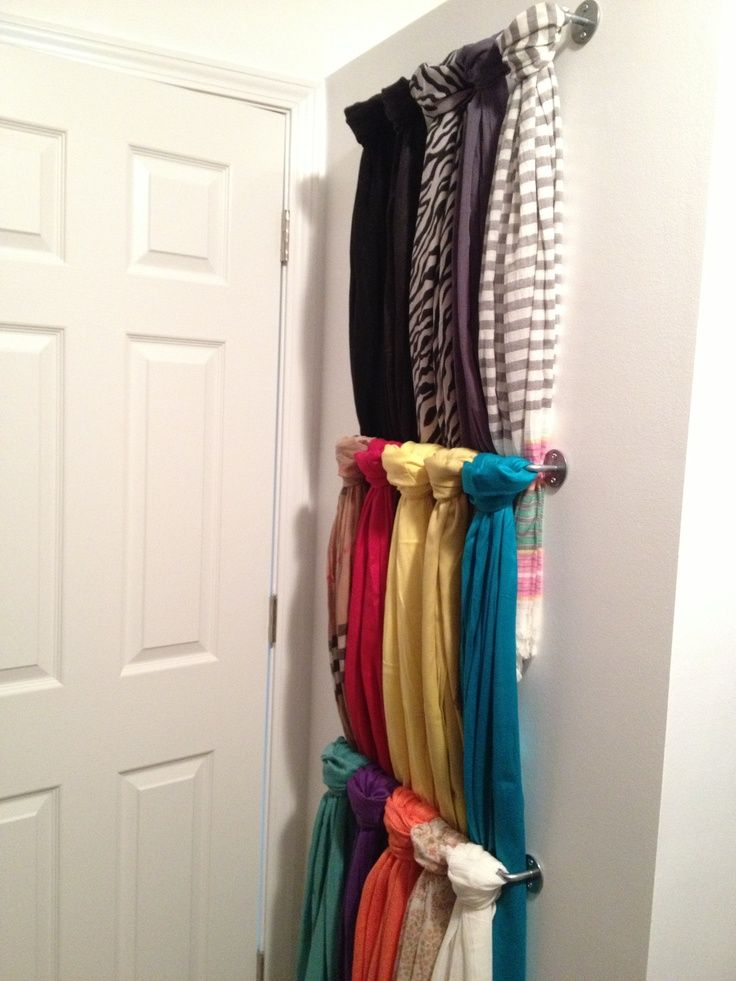 Unusable Wall Behind The Door In My Closet Perfect Scarf Storage