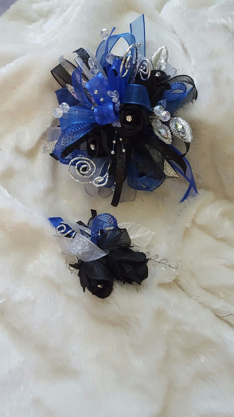 Black and royal blue prom corsage set from hen house designs www black and royal blue prom corsage set from hen house designs henhousedesigns izmirmasajfo Gallery