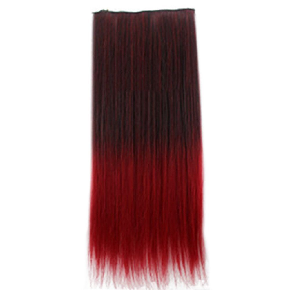 Wholesale color wig hair extension piece a fivecard straight hair