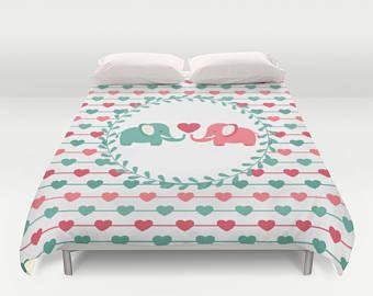 Elephant Duvet Comforter Bedding Heart S Kids
