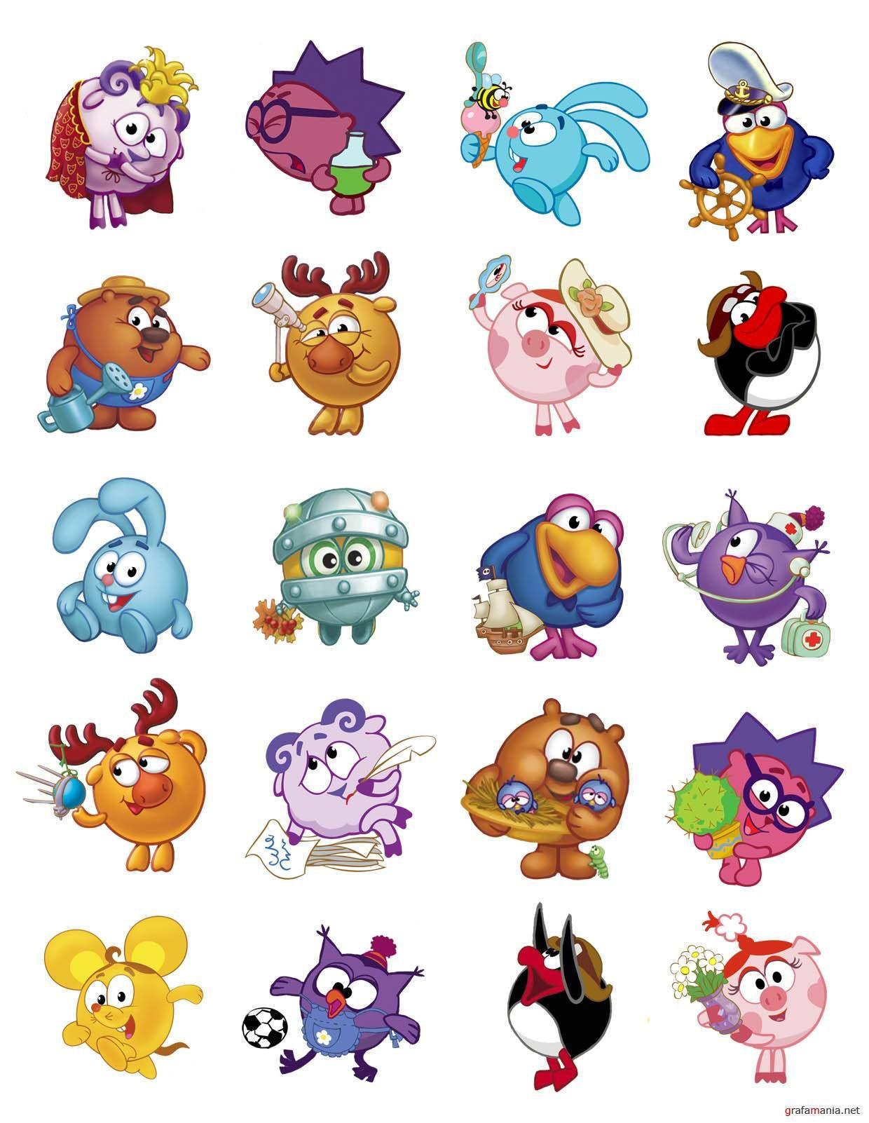 этот картинки с персонажами из смешариков истории