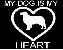 New Custom Screen Printed Tshirt My Dog Is My Heart Small - 4XL Free Shipping