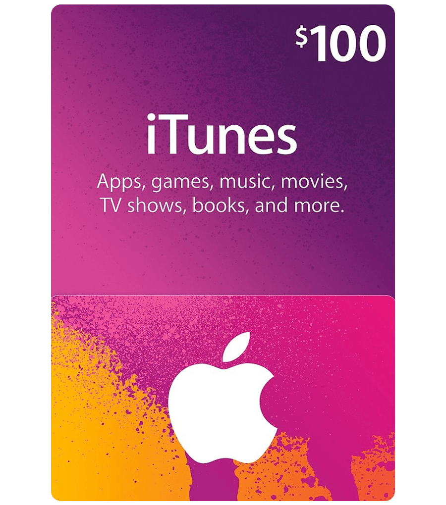 $100 US ITunes Gift Card For Apple Music, Apps, Movies And