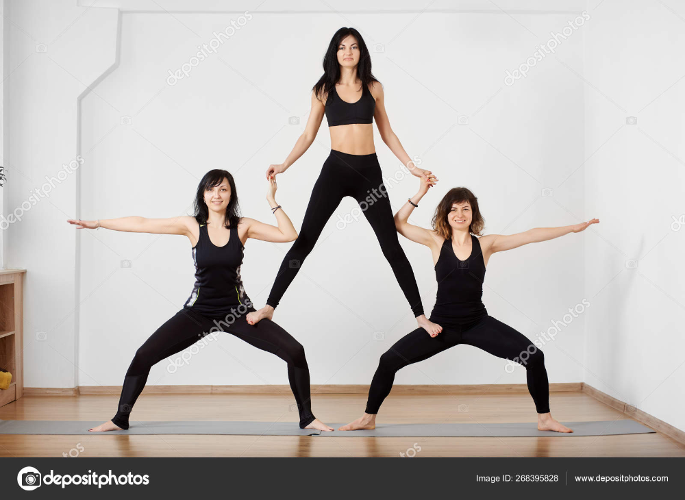 Extreme Three People Yoga Poses Google Search Women Fitness Magazine Health Tonic Health Fitness