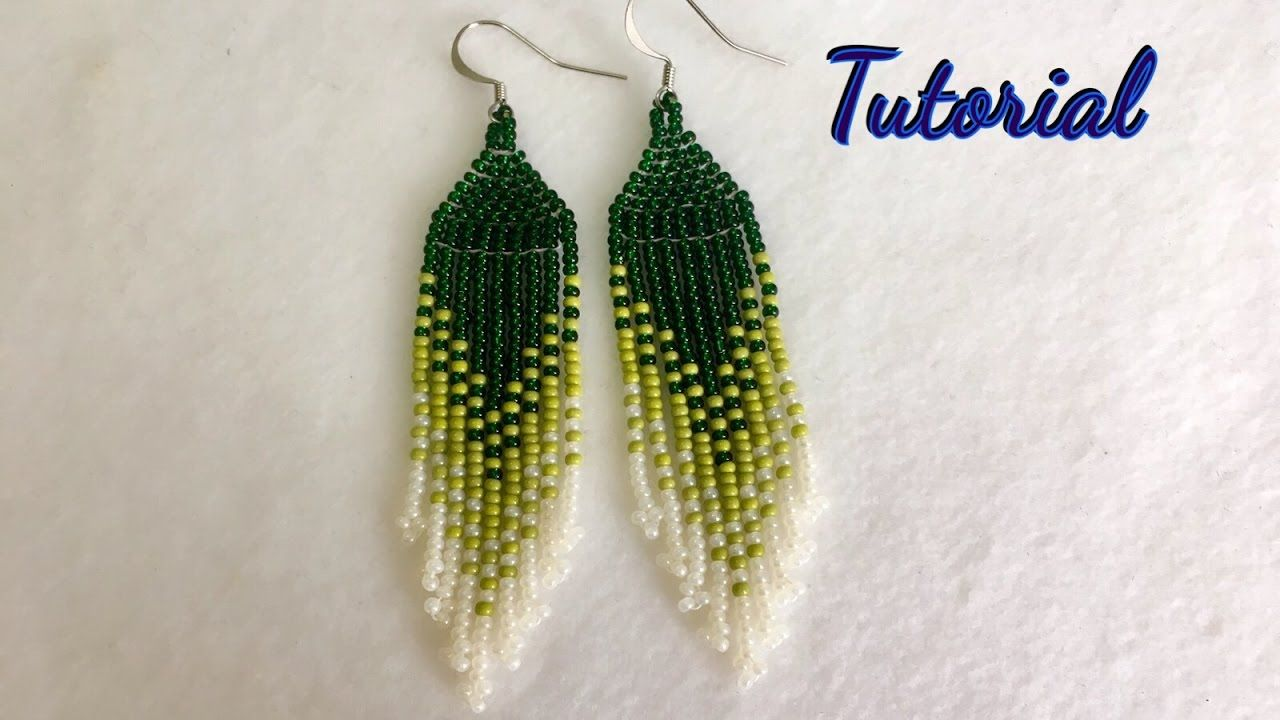 How To Make Native American Style Earrings Tutorial Earring Tutorial Native American Beaded Earrings Brick Stitch Earrings