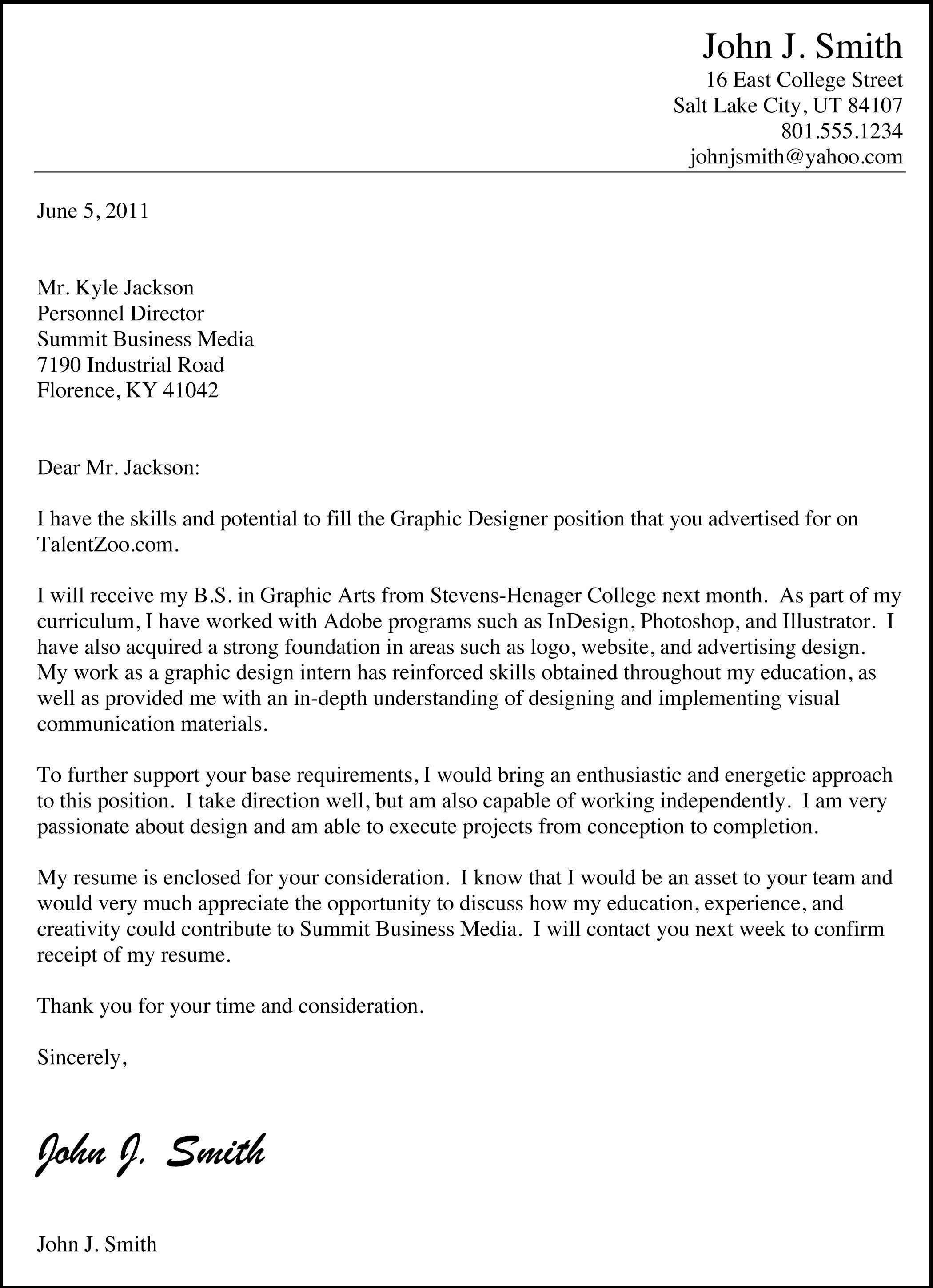 "Sample Cover Letter Doc Sample Cover Letters For Employment  Sample Cover  ""do's"" With"
